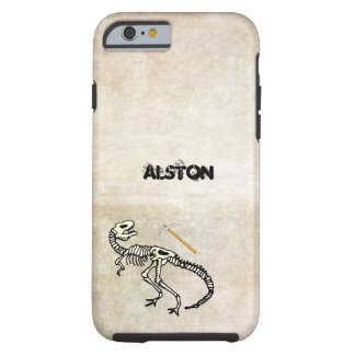 Dinosaur Fossil cell phone cover with name