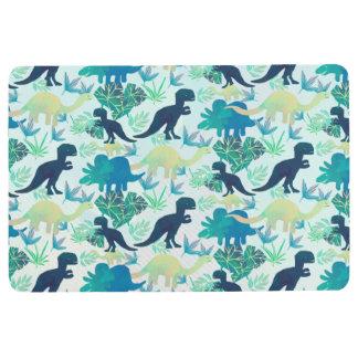 Dinosaur Navy Blue Green Teal Floor Mat