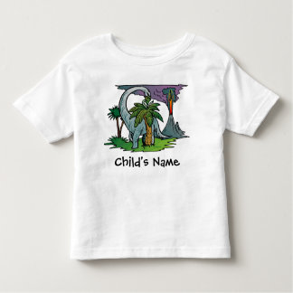 Dinosaur Volcano Kids Youth Toddler Tshirt