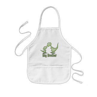 Dinosaurs Big Brother Kids Apron