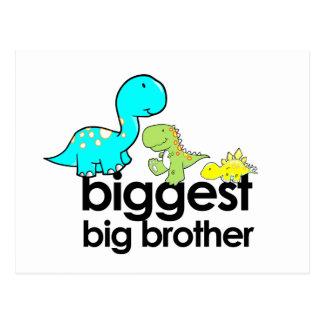 dinosaurs biggest big brother postcard