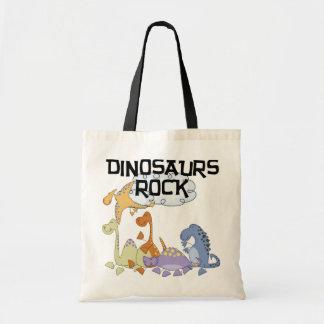 Dinosaurs Rock Tshirts and Gifts Tote Bag
