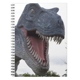Dinosaurs with big teeth notebooks