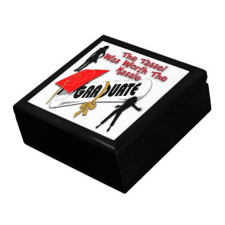 Diploma Red Grad Cap (Female) Gift Box/Trinket Box Large Square Gift Box