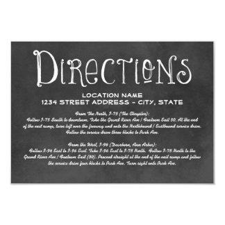 Directions Card | Black Chalkboard Charm