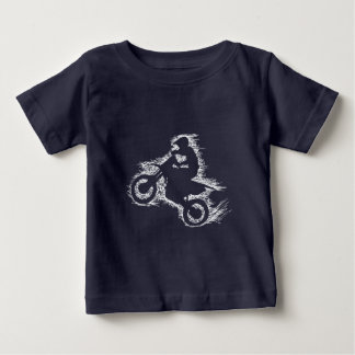 DIRT BIKE ( white scribble ) Baby T-Shirt