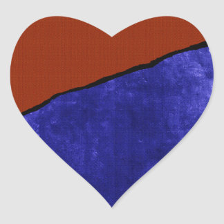 Dirty blue and orange rip heart sticker