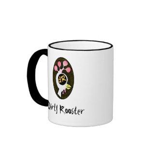 Dirty Rooster Logo Ringer Mug