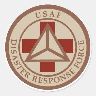 Disaster Response Force (Desert Camo) Classic Round Sticker