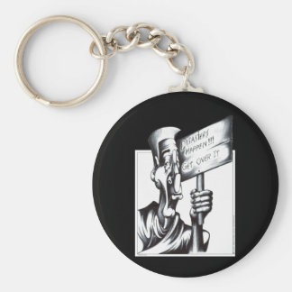 Disasters Happen Basic Round Button Key Ring