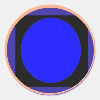 Disc Magic BLUE Organizing Writing Tools Round Sticker