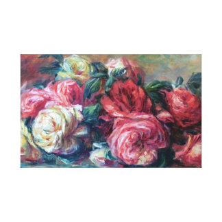 Discarded Roses Flower Painting Renoir Fine Art Gallery Wrapped Canvas