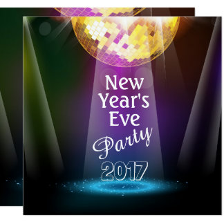 Disco Ball New Year's Eve Party Invitation