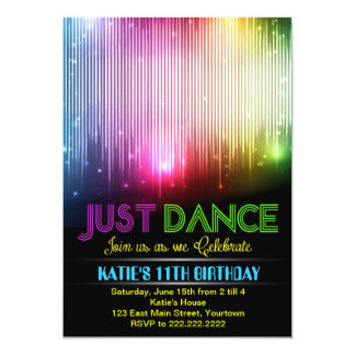Disco Just Dance Party Invitation
