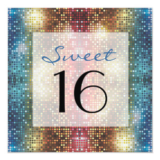 Disco Sweet 16 Birthday Party Custom Invite