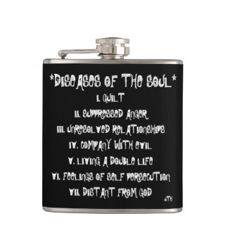 Diseases of The Soul Hip Flask