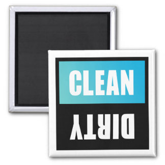 Dishwasher Clean or Dirty Sign Square Magnet