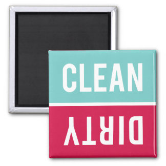 Dishwasher Magnet CLEAN | DIRTY - Blue Red