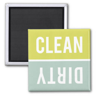 Dishwasher Magnet CLEAN | DIRTY - Green Blue