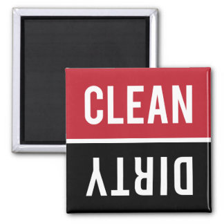 Dishwasher Magnet CLEAN | DIRTY - Red and Black