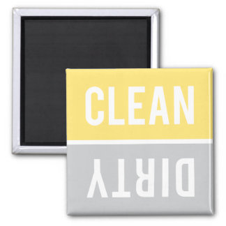 Dishwasher Magnet CLEAN | DIRTY - Yellow Gray