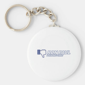 Dislike Ron Paul - 2012 election president vote Keychains