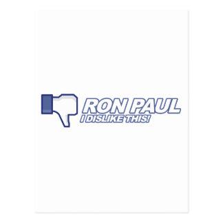 Dislike Ron Paul - 2012 election president vote Postcard