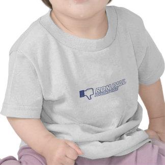 Dislike Ron Paul - 2012 election president vote Tshirts