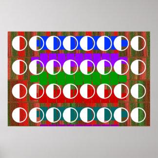 DISPLAY : Half Balanced MOON Decoration Print
