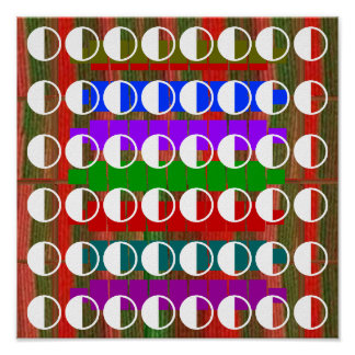 DISPLAY : Half Balanced MOON Decoration Poster