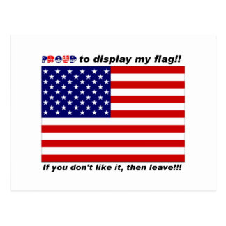 Display the Flag with pride. Postcard