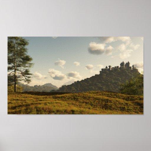 Distant Medieval Castle Print