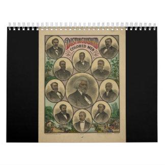 Distinguished Colored Men Frederick Douglass 1883 Wall Calendar