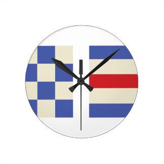 Distress Flags Round Clock