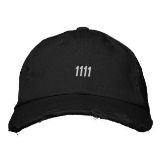 "Distressed Baseball Cap ""1111""4 11"