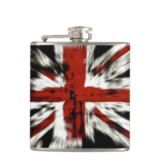 distressed british flag hip flask