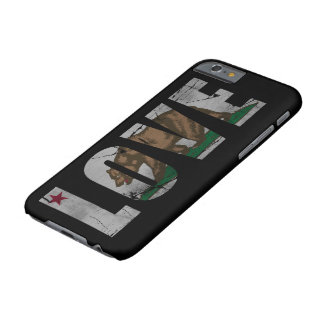 Distressed California Love Flag Bear Barely There iPhone 6 Case