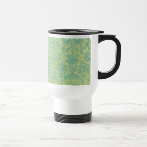 Distressed Damask Monogram Mug