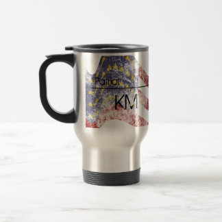 Distressed Flag Monogrammed Stainless Steel Travel Mug