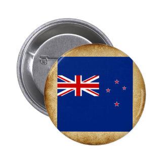 Distressed New Zealand Flag 6 Cm Round Badge