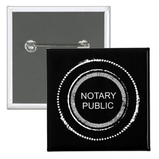Distressed Notary Public Seal 15 Cm Square Badge