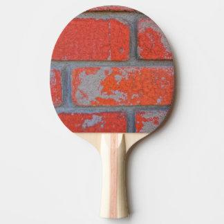 Distressed Orange Brick Ping Pong Paddle