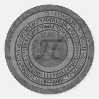 Distressed Pi To 125 Classic Round Sticker