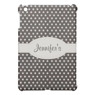 Distressed Polka Dot Pern in Charcoal & White Cover For The iPad Mini