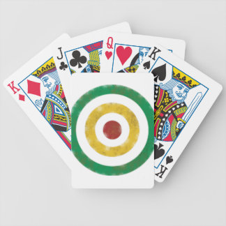 Distressed Rasta Rings Bicycle Playing Cards