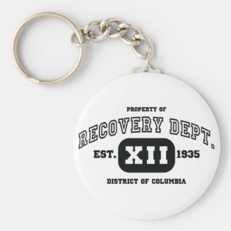 DISTRICT OF COLUMBIA Recovery Basic Round Button Key Ring