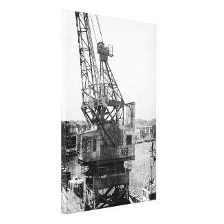 Disused Dockyard Crane in Bristol Canvas Print