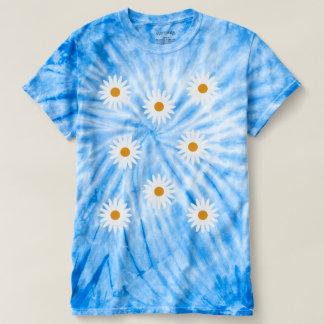 Ditsy Daises Blue Tie Dye T Shirt