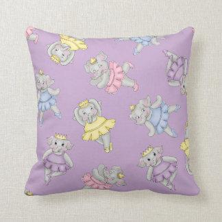 Diva Ballerinas Purple Cushion