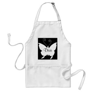 Diva Butterfly I Chef Adult Apron